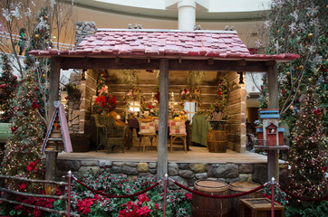 A Hut and other Christmas Decorations