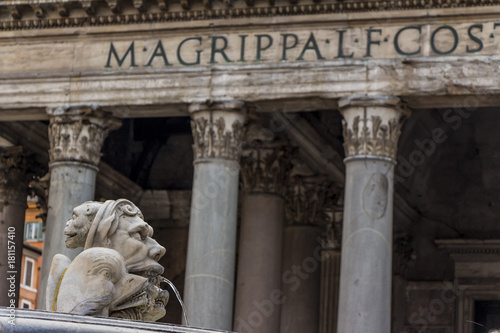 Staande foto Rome italy, rome, pantheon