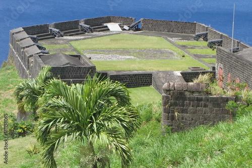 Foto op Canvas Grijs Brimstone Hill Fortress, St. Kitts