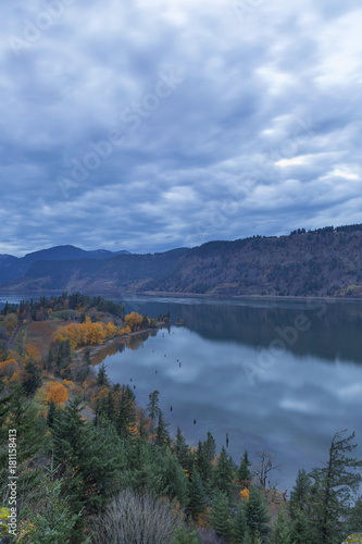 Ruthton Point during Evening Blue Hour in OR USA Plakát