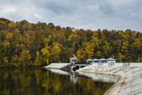 Dam Solina-Myczkowce on the San river in Bieszczady, Poland