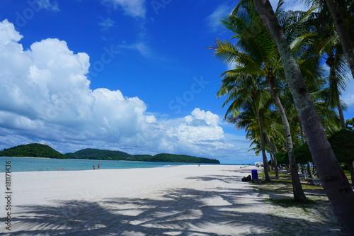 Poster Tropical strand The Pantai Cenang beach, Langkawi island, Malaysia