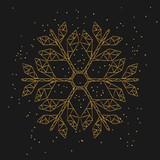 Schneeflocke - gold glitter - 181177896