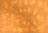 Fashion Golden Yellow Blur Star Christmas  Gift  Background Pattern Grunge Wrap Abstract concept.