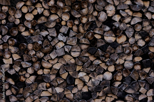 Deurstickers Brandhout textuur hölzern