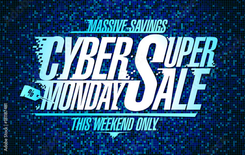 Cyber monday super sale banner