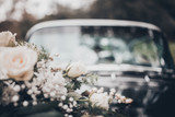 Cadillac Blumenstrauss Hochzeit Wedding Car