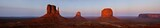 Panoramic View of Mitten Buttes in Monument Valley