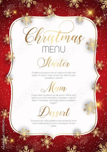 Papiers peints Echelle de hauteur Christmas menu design