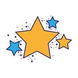 shiny stars space glitter design