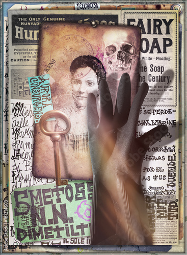 Papiers peints Imagination Scrapbooks,collage,patchworks bizzarri,surreali,misteriosi ed esoterici