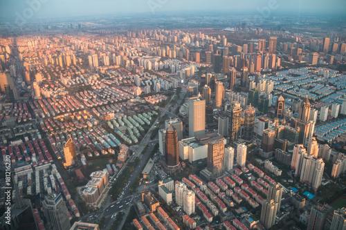 Tuinposter Shanghai Shanghai city skyline