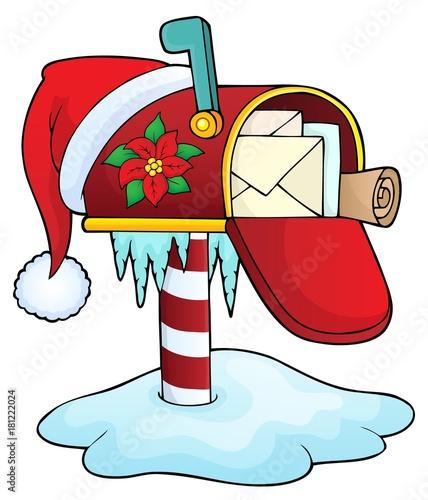 In de dag Voor kinderen Christmas mailbox theme image 1
