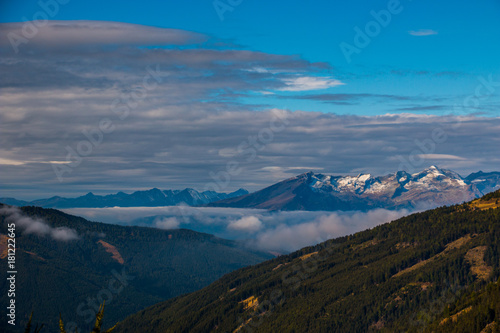 Foto op Canvas Zwart Alps Mountain Austria