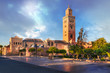 Leinwanddruck Bild - Koutoubia Mosque minaret located at medina quarter of Marrakesh, Morocco