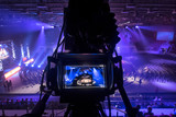 tv camera in competitions in mixed martial arts. - 181230893