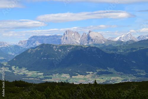 Poster Nachtblauw włochy, góry, krajobraz