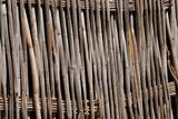 Zaun aus Bambusrohren