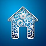 house gear mechanism symbol