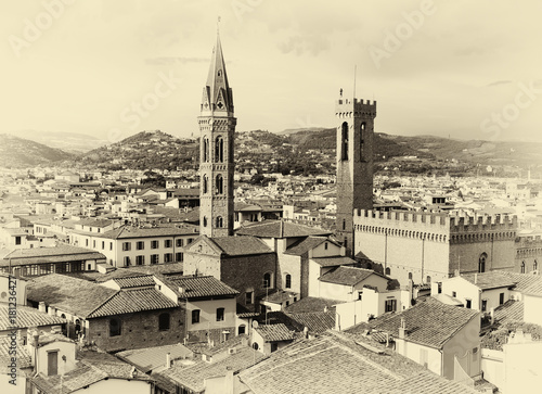 Foto op Aluminium Florence Florence Cityscape sepia
