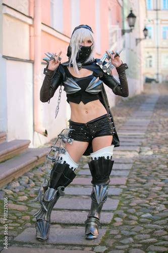 ninja warrior girl Poster