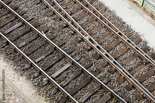 Tuinposter Spoorlijn Schienen