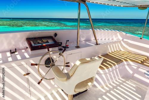 Keuken foto achterwand Schip captains bridge, yacht