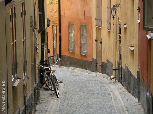 Plexiglas Smalle straatjes Gamla Stan, Stockholm's Old Town