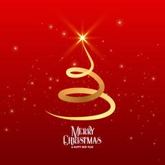 creative swirl christmas tree design with sparkles