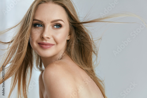 Beautiful Happy Young Woman Smiling Portrait Poster