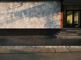 Street sidewalk and Marble wall