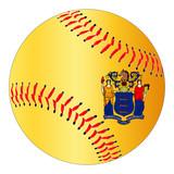 New Jersey Flag Baseball - 181257236