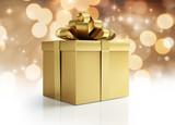 Goldene Geschenkpakete und Päckchen - 181257289