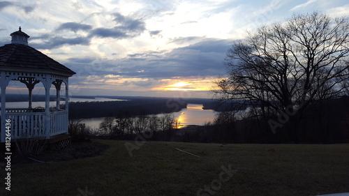 Foto op Canvas Zee zonsondergang Sky
