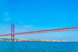 puente 25 de abril bridge in Lisbon, Portugal.