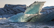 Beautiful landscape with glacial icebergs in Jokulsarlon glacier lagoon, Iceland