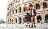 Couple at Colosseum, Rome - 181284897