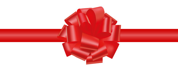 Gift decoration. Red ribbon - vector for stock