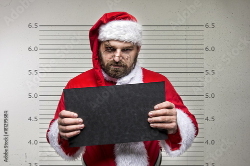 Bad Santa Claus pointing on you, concept christmas