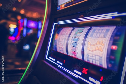 Spinning Slot Machine Poster
