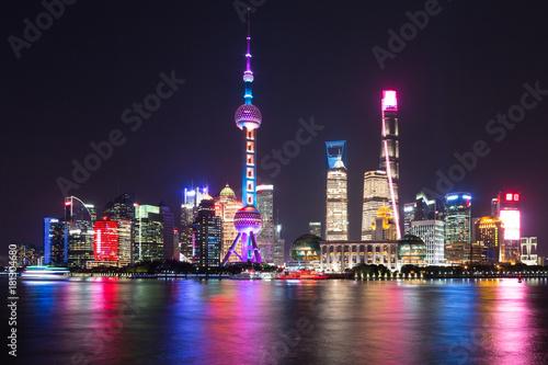 Foto op Canvas Shanghai Shanghai Pudong night scene