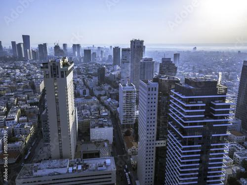 Foto op Aluminium New York Rothschild Boulevard, Ahad Ha'am, Neve Tzedek is a neighborhood located in southwestern Tel Aviv Israel