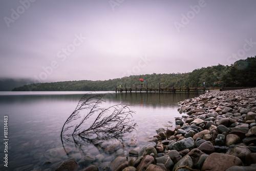 Staande foto Lavendel Lake Rotoiti, St. Arnaud, Tasman, New Zealand