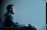 man in home cinema - 181321444