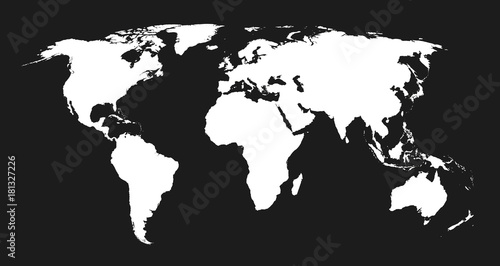 World Map stylisée, NetB