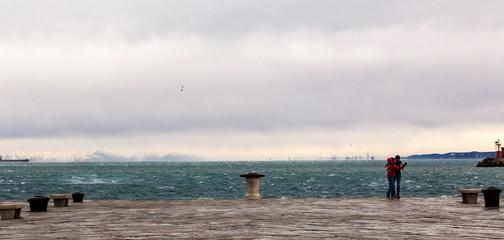 Audace pier with Bora wind