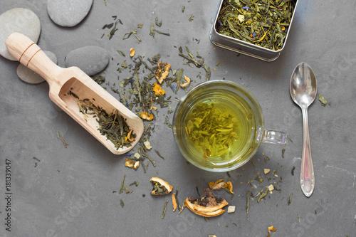 Fototapeta tea on table composition
