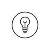 Lightbulb line icon, outline vector sign, linear style pictogram isolated on white. Lamp symbol, logo illustration. Editable stroke - 181345227