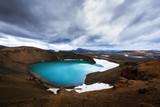 Acid hot lake in the geothermal valley Leirhnjukur - 181350696