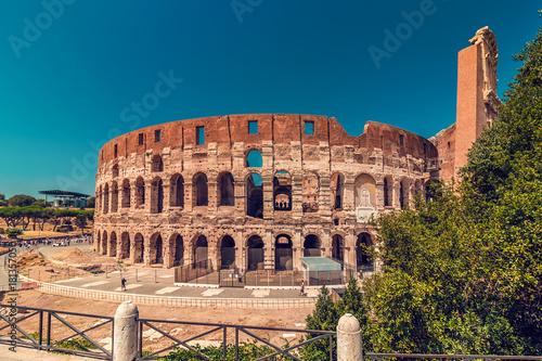 Foto op Canvas Rome Coliseum